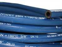 """Umwickelter Schlauch, doppelte Drahteinlage, blau, 3/8"""", Meterware"""