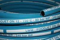"FOODJET Schlauch, blau, 1/2"", max. 80 bar, - 40°C bis +150°C, Meterware - Hinweis: Bei Verpressung d"