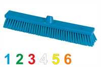 BASIC Kehrbesen, flach, 500 x 58 mm, 63 x 0,6/0,3 mm Mischborsten hart/weich, gelb