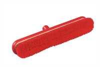 RESIN-SET Kehrbesen, flach, 457 x 75 mm, 57 x 0,3 mm weichgewellte Borsten, rot