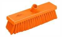Kehrbesen, flach, 300 x 75 mm, 63 x 0,45 mm medium Borsten, orange