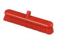 Kehrbesen, flach, 457 x 75 mm, 57 x 0,3 mm weichgewellte Borsten, rot