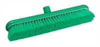 Restposten: RESIN-SET Kehrbesen, flach, 457 x 75 mm, 57 x 0,2 mm sehr weiche Borsten, grün