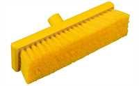 Restposten: RESIN-SET Kehrbesen, flach, 300 x 75 mm, 57 x 0,3 mm weichgewellte Borsten, gelb