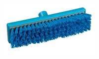 RESIN-SET Schrubber, 300 x 75 mm, 44 x 0,75 mm sehr harte Borsten, blau