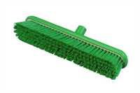 RESIN-SET Kehrbesen, flach, 457 x 75 mm, 63 x 0,75 mm sehr harte Borsten, grün