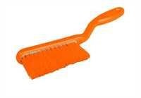 RESIN-SET Handfeger, 317 x 36 mm, 57 x 0,2 mm sehr weiche Borsten, orange