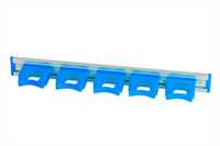 Wandhalterung, Schienensystem für Bürsten und Stiele