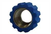 Überwurfmutter, Edelstahl, blau, M22 IG