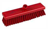 Kehrbesen, flach, 300 x 75 mm, 57 x 0,3 mm weichgewellte Borsten, rot