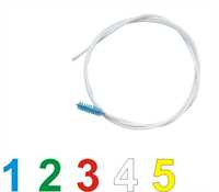 Rohrbürste mit flexiblem Draht, 3 m lang, 75 mm ø medium Borsten, blau