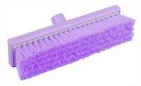 Restposten: RESIN-SET Kehrbesen, flach, 300 x 75 mm, 57 x 0,3 mm weichgewellte Borsten, violett