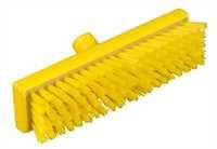 RESIN-SET Schrubber, 300 x 75 mm, 44 x 0,75 mm sehr harte Borsten, gelb