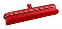 Restposten: RESIN-SET Kehrbesen, flach, 457 x 75 mm, 57 x 0,2 mm sehr weiche Borsten, rot