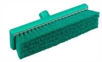 Restposten: RESIN-SET Kehrbesen, flach, 300 x 75 mm, 57 x 0,3 mm weichgewellte Borsten, grün